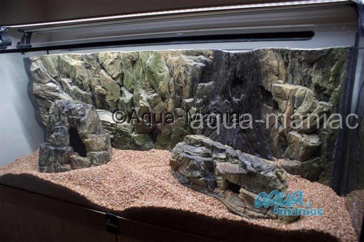Bundle of 2 aquarium rocks for tropical fish tanks for for Aquarium stone decoration