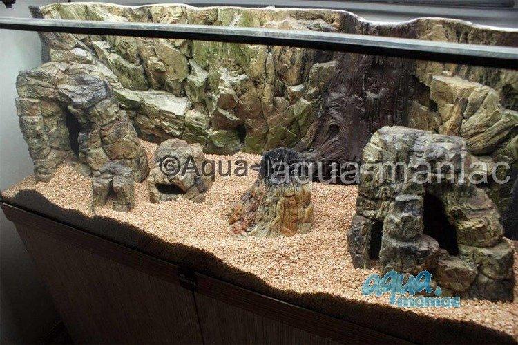 Aquarium small rock hide for tropical fish tanks for for Aquarium decoration rocks