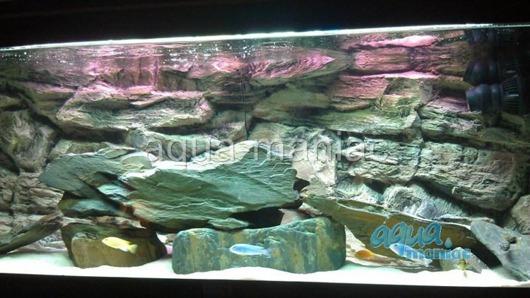 3D beige rock background 117x45cm