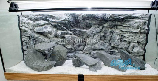 3D grey rock background 146x54cm