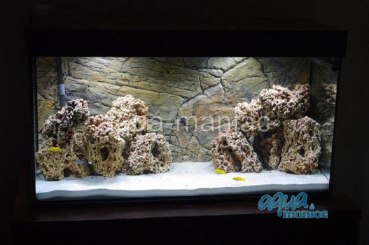 3D thin rock background 77x36cm
