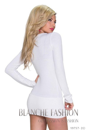 Sexy Cream Tunic with laces 10/12