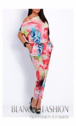 Ladies Red Overall Jumpsuit  One Size