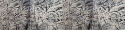 3D Foam Rock Grey Background Modules size 240x55cm