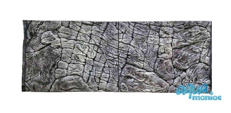3D Background Thin Grey Rock 106x56cm to fit Aqua Oak 120 Aquarium