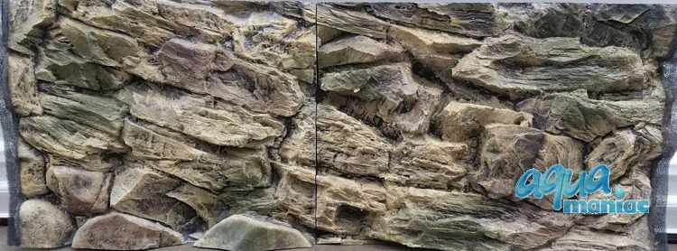 3D Rock Background 117x56cm in 2 section to fit 4 foot by 2 foot tanks