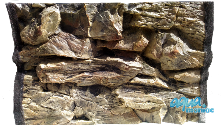 3D Rock Background 57x56cm  to fit 2 foot by 2 foot tanks