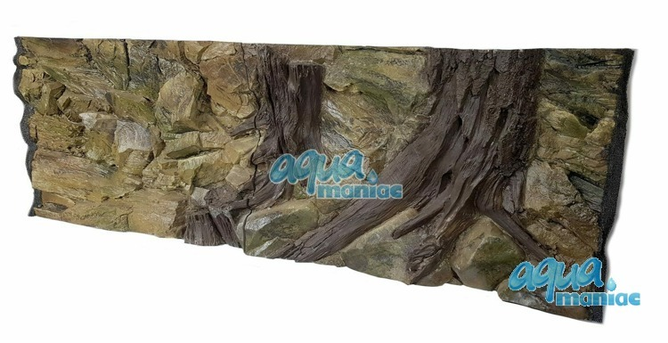 3D Root Background 239x56cm in 4 section to fit 8 foot by 2 foot tanks