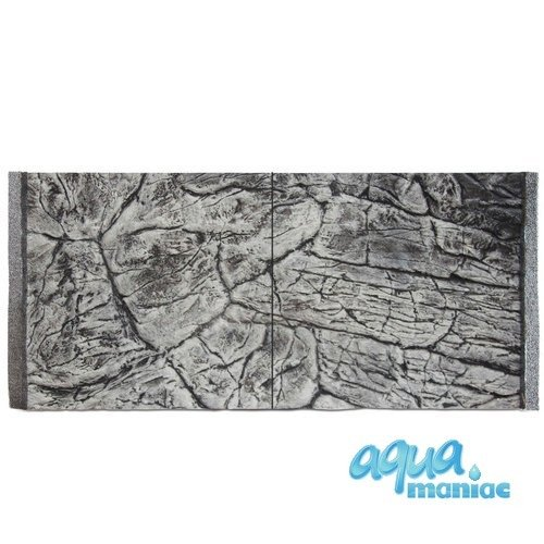 3D Thin Grey Rock Background 88x56cm in 2 section to fit 3 foot by 2 foot tanks