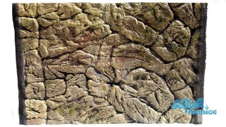 3D Thin Rock Background 57x56cm  to fit 2 foot by 2 foot tanks