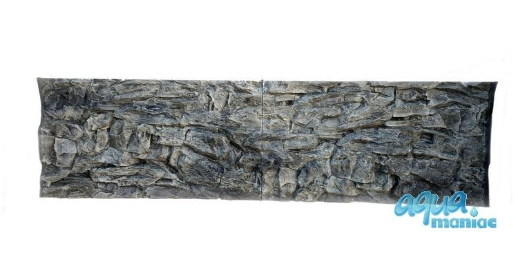 3D grey rock background 196x45cm