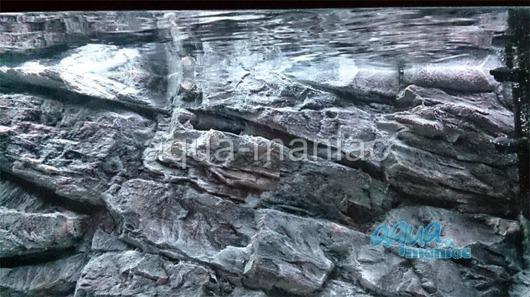 3D grey rock background 97x45cm
