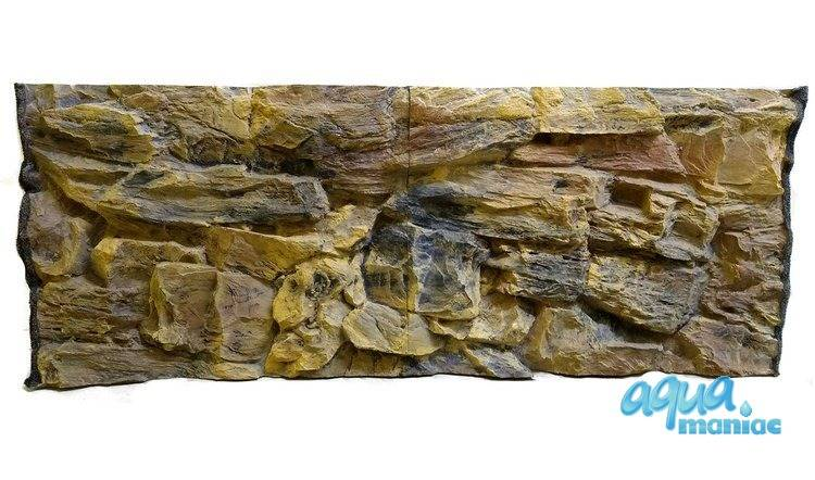 Fluval Roma 240 rock 3D Background 117x45cm 2 sections