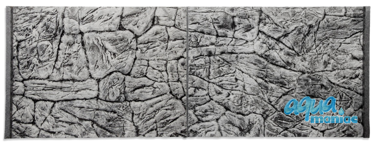 JUWEL RIO 450 3D thin grey rock background 148x56cm in 3 sections