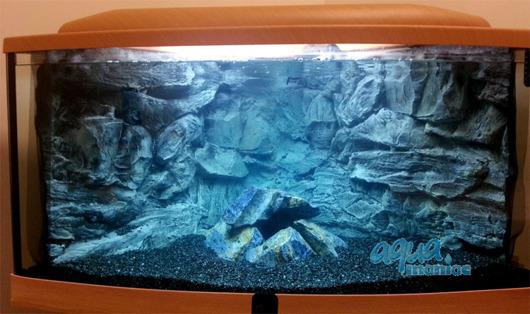 JUWEL Trigon 190 3D grey rock background in 2 sections