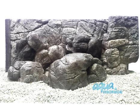 Medium aquarium stone in grey colour
