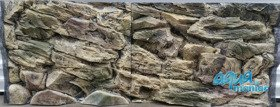 3D Beige Rock background 148x56cm in 2 sections