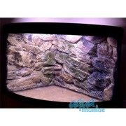 JUWEL Trigon 190 3D beige rock background in 2 sections